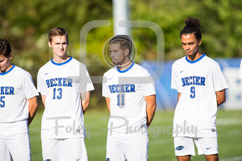 Becker College Hawks defender Jakob Franklin (11)