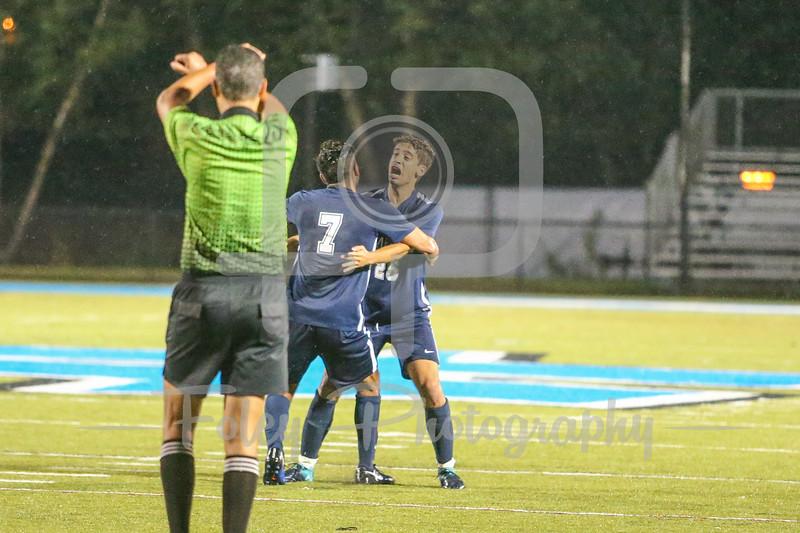 Mercy College Mavericks Facundo Bouciguez (25) Mercy College Mavericks midfielder/forward Maximiliano Rebolledo-Camus (7)