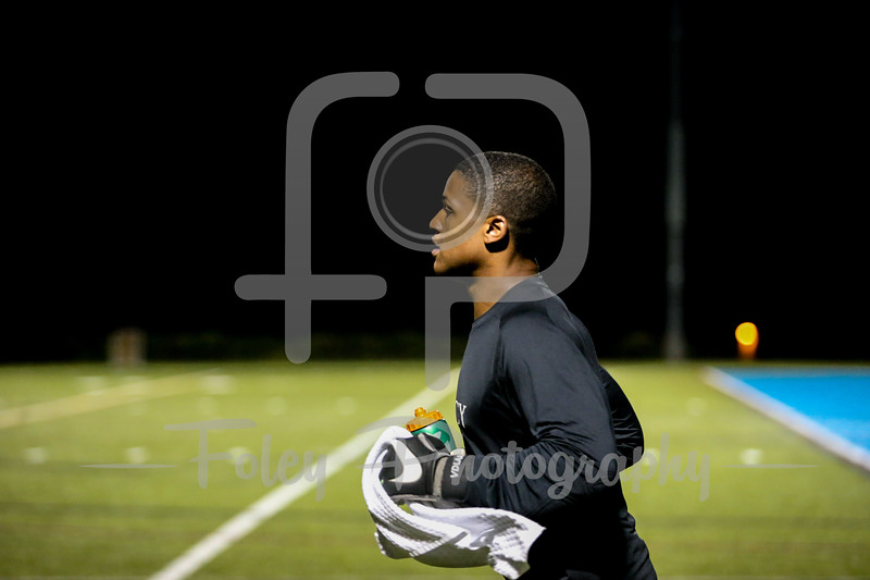 Mercy College Mavericks goalkeeper Kwantarian Van der Lara (30)