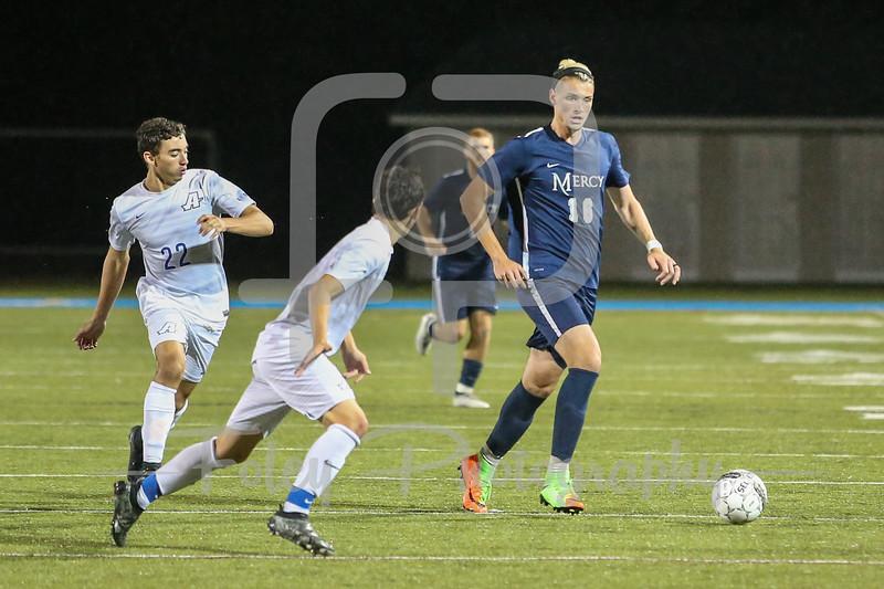 Mercy College Mavericks forward Santiago Corral (16)