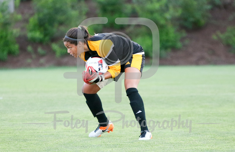 Friday, August 19, 2016; Worcester, Massachusetts; Iona Gaels goalkeeper Tiffany Martinez (1)  during the Crusaders 3-1 victory.