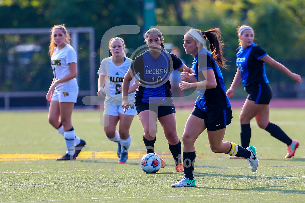Becker College Hawks midfielder Maria Colon (10)