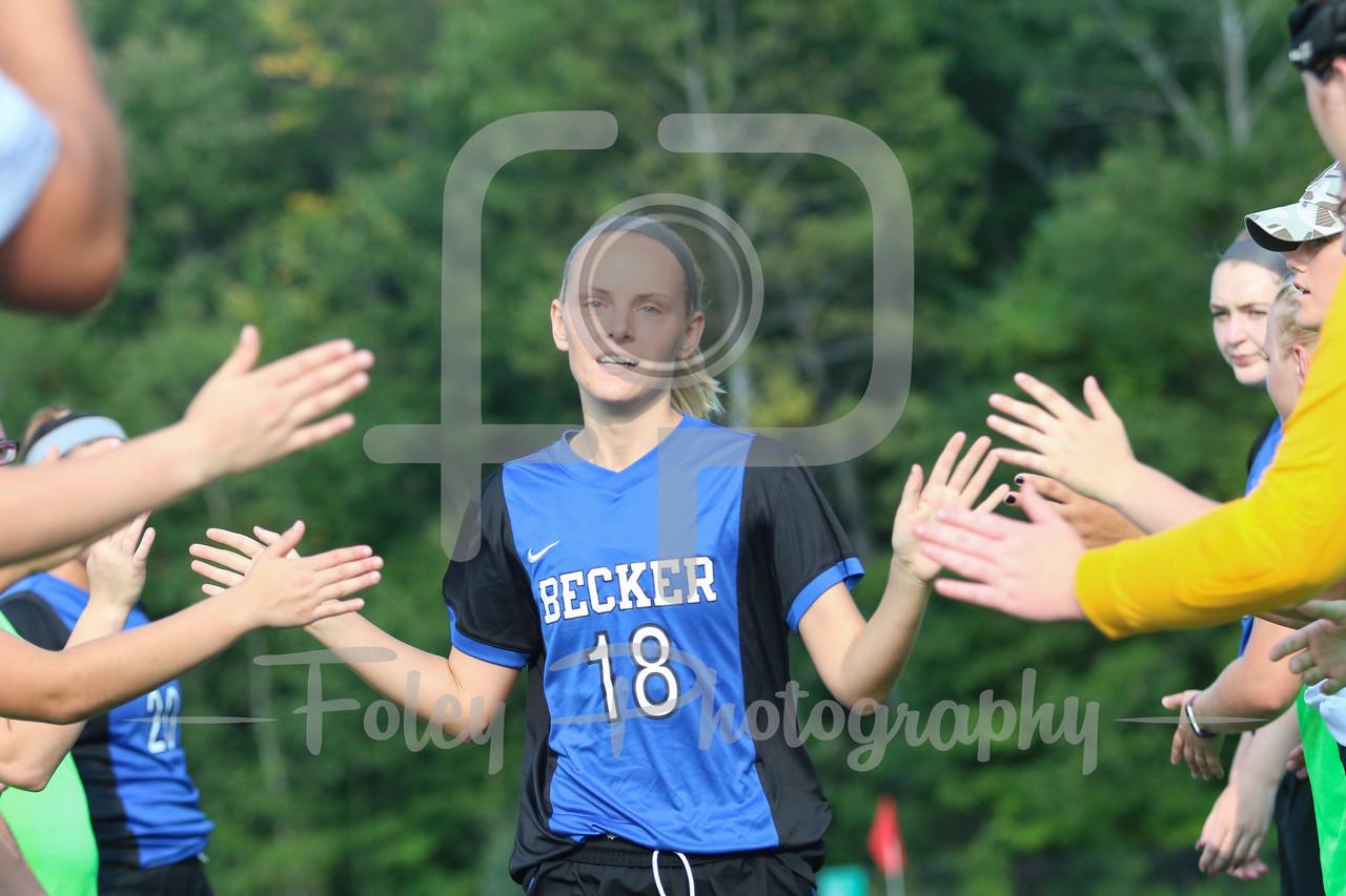 Becker College Hawks midfielder/forward Marissa Felter (18)