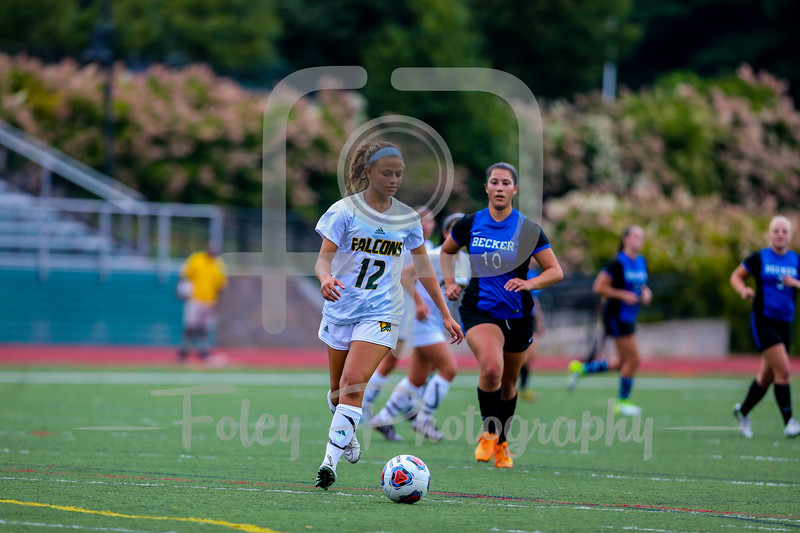 Fitchburg State Falcons defender Keely Moore (12)