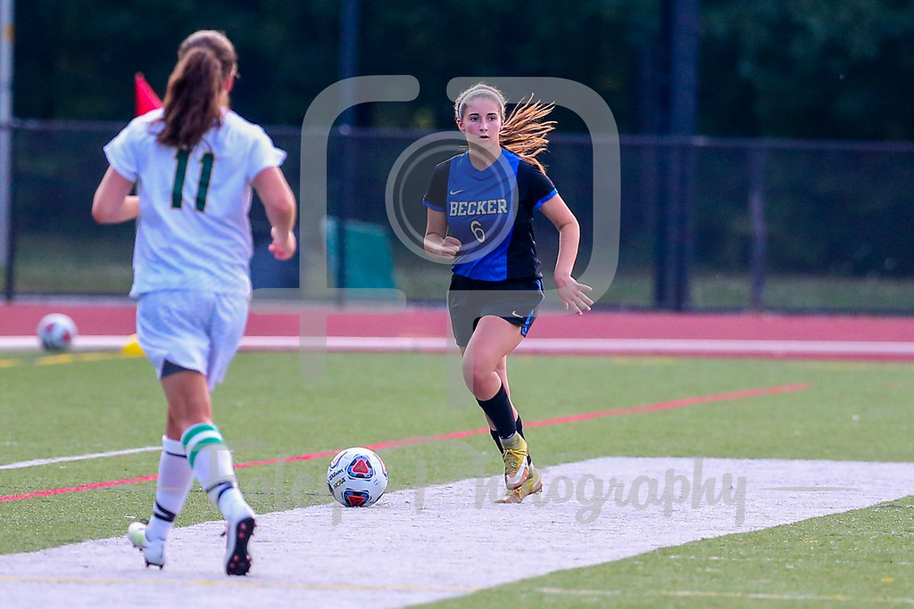 Becker College Hawks midfielder/defender Arianna Calouro (6)