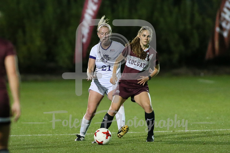 Colgate Raiders Mara Cosentino (14) Holy Cross Crusaders Megan Lawlor (21)