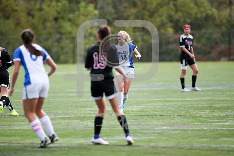 Becker College Hawks defender/midfielder Emily Campbell (13)