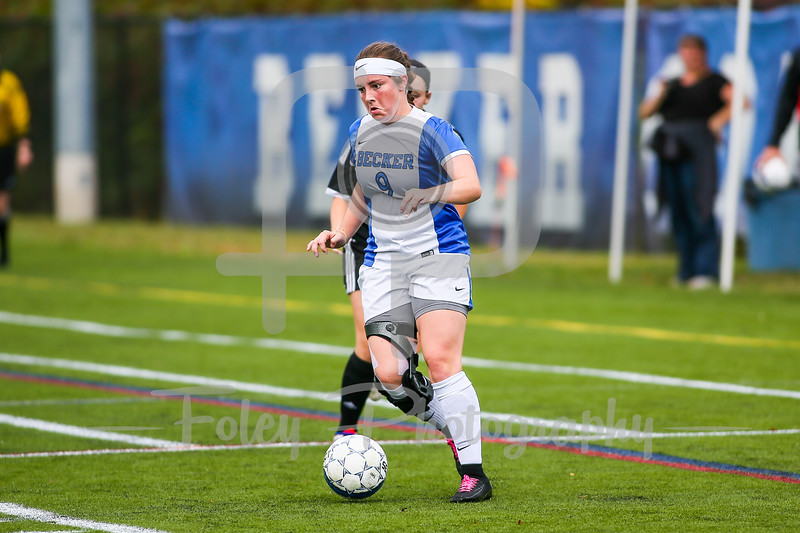 Becker College Hawks defender/forward Kyra Teixeira (9)