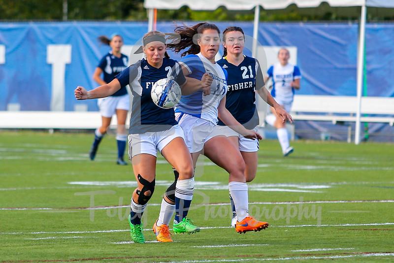 Becker College Hawks midfielder Maria Colon (10) Fisher College Chelsea Browne (21)