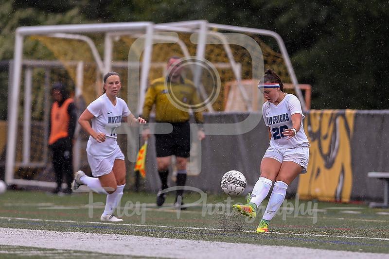 Mercy College midfielder Jessica Brandt (20)
