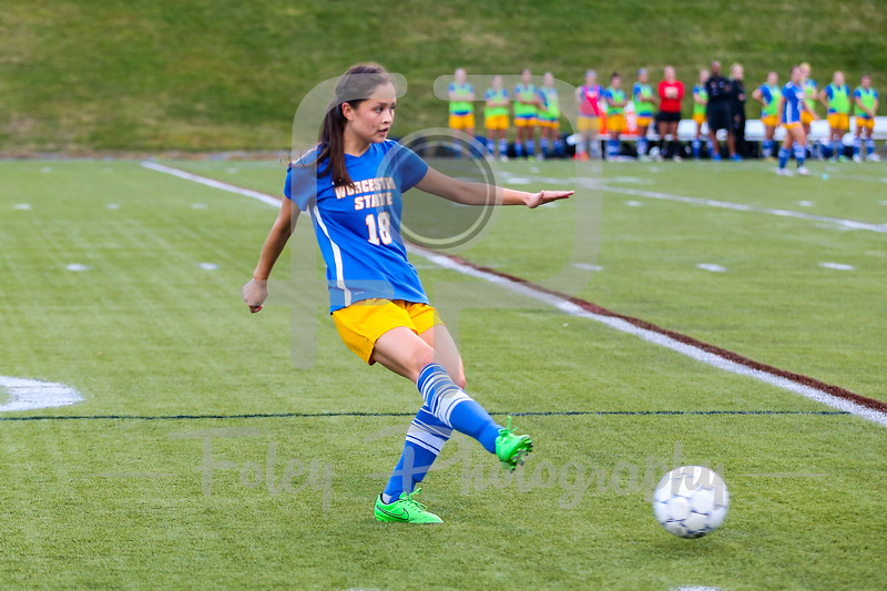 Worcester State Lancers Rachel Dixson (18)