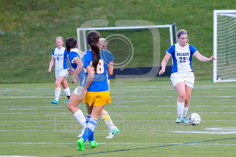 Becker College Hawks defender Julia Campellone (22)
