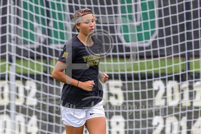 Aug. 29, 2021; Hanover, New Hampshire, USA; Vermont Catamounts forward Cricket Bossa (18)  warm up before a non conference matchup between Vermont and Dartmouth. The Big Green won the game 2-1 over the Gaels at Burnham Field. Photo by Foley-Photography.