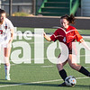 The Argyle Lady Eagles play against Mineral Wells at Azle Stadium in Azle, Texas, on April 2, 2019. (Andrew Fritz | The Talon News)