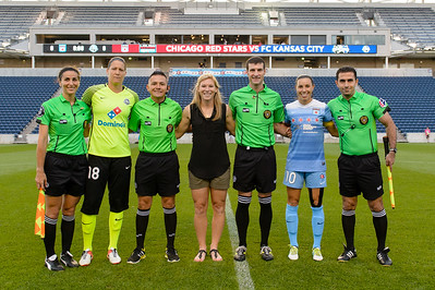 Referees, Nicole Barnhart, Lori Chalupny, Vanessa DiBernardo