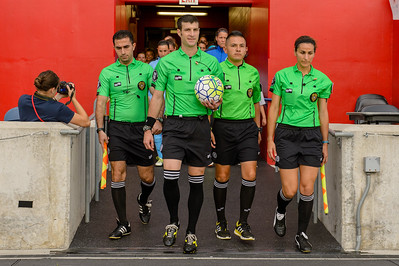 Assistant Referee Artyom Arustamyan, Referee Andrew Musashe, Fourth Official Edgar Osorio, Assistant Referee Becky Pagan