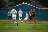 Findlay's Brady Shenise (2) kicks the ball away from Ashland's Noah Gauss (17).