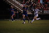 Bluffton's Olivia Setzer (1) chases down LB's Maya Rickle (14) and kicks the ball away from her.