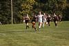 VB's Alyssa Potteiger (31) kicks the ball away from LB's Olivia Bodie (5) ending her run on goal.