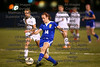 Findlay's Madison Mlsna (14) passes the ball up ahead of St. Ursula's Danielle Clear (12).
