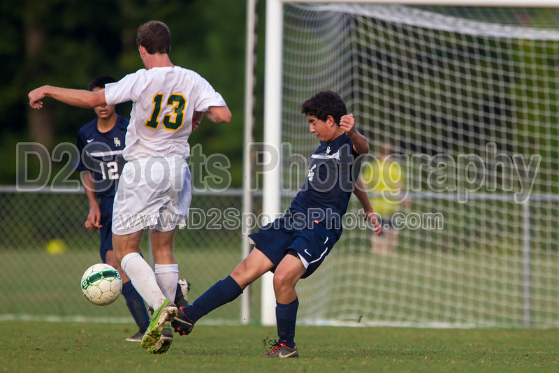 Bishop McGuinness Villains vs West Forsyth Titans Men's Varsity Soccer<br /> Forsyth Cup Soccer Tournament<br /> Friday, August 23, 2013 at West Forsyth High School<br /> Clemmons, North Carolina<br /> (file 185753_BV0H3636_1D4)