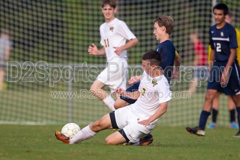 Bishop McGuinness Villains vs West Forsyth Titans Men's Varsity Soccer<br /> Forsyth Cup Soccer Tournament<br /> Friday, August 23, 2013 at West Forsyth High School<br /> Clemmons, North Carolina<br /> (file 185811_BV0H3641_1D4)