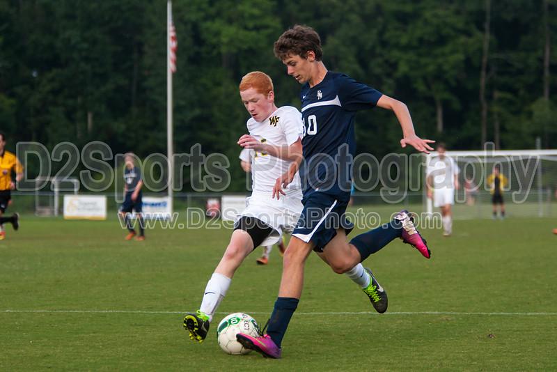 Bishop McGuinness Villains vs West Forsyth Titans Men's Varsity Soccer<br /> Forsyth Cup Soccer Tournament<br /> Friday, August 23, 2013 at West Forsyth High School<br /> Clemmons, North Carolina<br /> (file 190500_803Q4409_1D3)