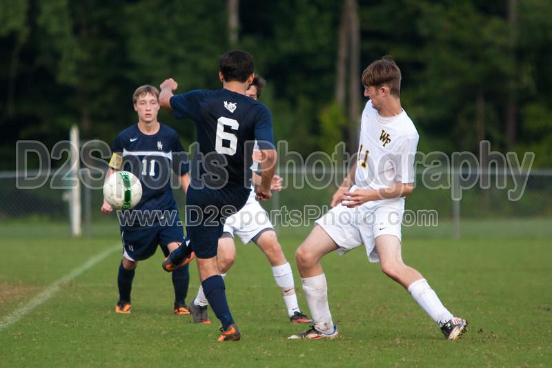 Bishop McGuinness Villains vs West Forsyth Titans Men's Varsity Soccer<br /> Forsyth Cup Soccer Tournament<br /> Friday, August 23, 2013 at West Forsyth High School<br /> Clemmons, North Carolina<br /> (file 182332_803Q4374_1D3)