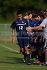 Bishop McGuinness Villains vs West Forsyth Titans Men's Varsity Soccer<br /> Forsyth Cup Soccer Tournament<br /> Friday, August 23, 2013 at West Forsyth High School<br /> Clemmons, North Carolina<br /> (file 175220_BV0H3296_1D4)