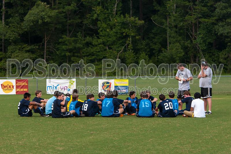 Bishop McGuinness Villains vs West Forsyth Titans Men's Varsity Soccer<br /> Forsyth Cup Soccer Tournament<br /> Friday, August 23, 2013 at West Forsyth High School<br /> Clemmons, North Carolina<br /> (file 183351_803Q4396_1D3)