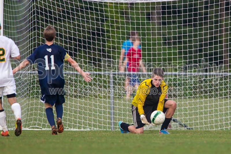 Bishop McGuinness Villains vs West Forsyth Titans Men's Varsity Soccer<br /> Forsyth Cup Soccer Tournament<br /> Friday, August 23, 2013 at West Forsyth High School<br /> Clemmons, North Carolina<br /> (file 190401_BV0H3696_1D4)