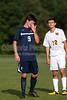 Bishop McGuinness Villains vs West Forsyth Titans Men's Varsity Soccer<br /> Forsyth Cup Soccer Tournament<br /> Friday, August 23, 2013 at West Forsyth High School<br /> Clemmons, North Carolina<br /> (file 180636_803Q4340_1D3)
