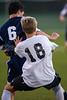 East Forsyth Eagles vs RJR Demons Men's Varsity Soccer<br /> Forsyth Cup Soccer Tournament Semifinal Match<br /> Thursday, August 22, 2013 at West Forsyth High School<br /> Clemmons, North Carolina<br /> (file 193542_QE6Q0975_1D2N)