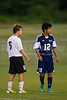 East Forsyth Eagles vs RJR Demons Men's Varsity Soccer<br /> Forsyth Cup Soccer Tournament Semifinal Match<br /> Thursday, August 22, 2013 at West Forsyth High School<br /> Clemmons, North Carolina<br /> (file 193115_BV0H3134_1D4)