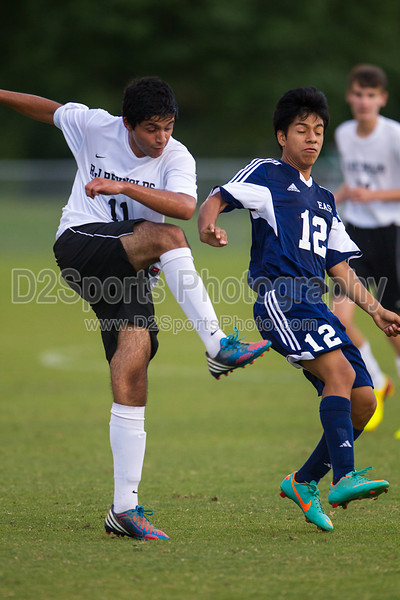 East Forsyth Eagles vs RJR Demons Men's Varsity Soccer<br /> Forsyth Cup Soccer Tournament Semifinal Match<br /> Thursday, August 22, 2013 at West Forsyth High School<br /> Clemmons, North Carolina<br /> (file 192735_BV0H3121_1D4)