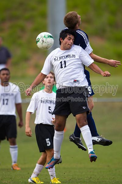 East Forsyth Eagles vs RJR Demons Men's Varsity Soccer<br /> Forsyth Cup Soccer Tournament Semifinal Match<br /> Thursday, August 22, 2013 at West Forsyth High School<br /> Clemmons, North Carolina<br /> (file 191729_BV0H3072_1D4)