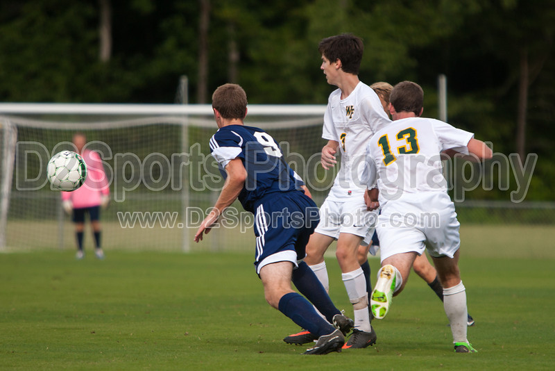 East Forsyth Eagles vs West Forsyth Titans Men's Varsity Soccer<br /> Forsyth Cup Soccer Tournament<br /> Tuesday, August 20, 2013 at West Forsyth High School<br /> Clemmons, North Carolina<br /> (file 173410_803Q4033_1D3)