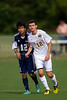 East Forsyth Eagles vs West Forsyth Titans Men's Varsity Soccer<br /> Forsyth Cup Soccer Tournament<br /> Tuesday, August 20, 2013 at West Forsyth High School<br /> Clemmons, North Carolina<br /> (file 171744_BV0H1751_1D4)