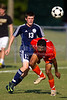 Glenn Bobcats vs Bishop McGuinness  Villains Men's Varsity Soccer<br /> Forsyth Cup Consolation Match<br /> Thursday, August 16, 2012 at West Forsyth High School<br /> Clemmons, NC<br /> (file 163800_BV0H8216_1D4)
