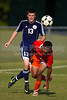 Glenn Bobcats vs Bishop McGuinness  Villains Men's Varsity Soccer<br /> Forsyth Cup Consolation Match<br /> Thursday, August 16, 2012 at West Forsyth High School<br /> Clemmons, NC<br /> (file 163800_BV0H8215_1D4)