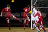 Mt Tabor Spartans vs Charlotte Catholic Cougars Men's Varsity Soccer<br /> Saturday, November 02, 2013 at Mt Tabor High School<br /> Winston Salem, North Carolina<br /> (file 191355_BV0H3606_1D4)