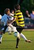 Mt Tabor Spartans vs RJR Demons Men's Varsity Soccer<br /> Forsyth Cup Soccer Tournament Consolation Match<br /> Saturday, August 24, 2013 at West Forsyth High School<br /> Clemmons, North Carolina<br /> (file 191118_QE6Q1104_1D2N)