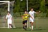 Mt Tabor Spartans vs RJR Demons Men's Varsity Soccer<br /> Forsyth Cup Soccer Tournament Consolation Match<br /> Saturday, August 24, 2013 at West Forsyth High School<br /> Clemmons, North Carolina<br /> (file 183045_BV0H3974_1D4)