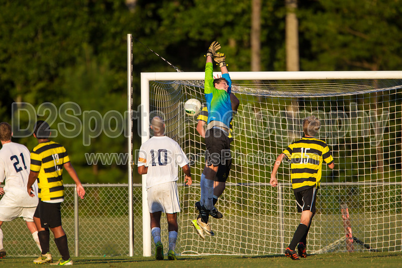 Mt Tabor Spartans vs RJR Demons Men's Varsity Soccer<br /> Forsyth Cup Soccer Tournament Consolation Match<br /> Saturday, August 24, 2013 at West Forsyth High School<br /> Clemmons, North Carolina<br /> (file 191048_BV0H4158_1D4)