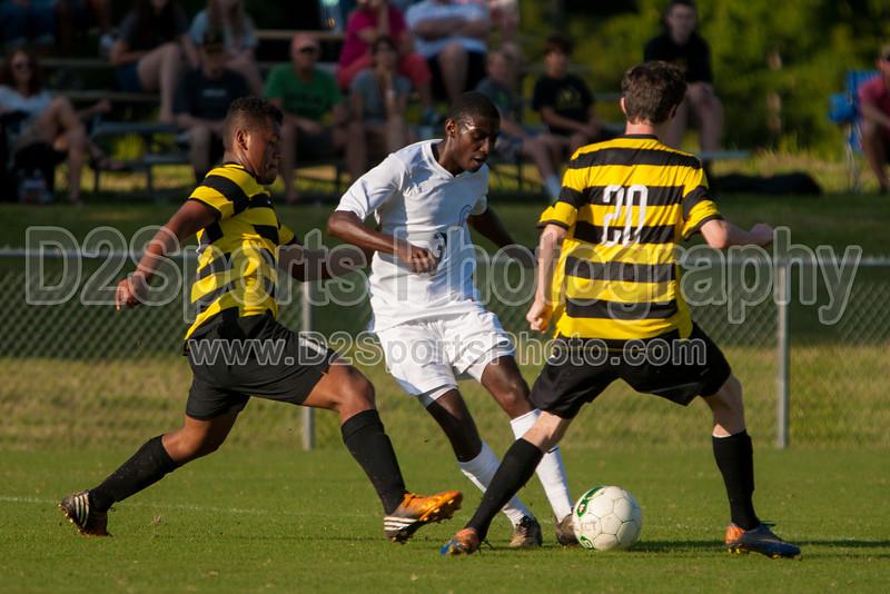 Mt Tabor Spartans vs RJR Demons Men's Varsity Soccer<br /> Forsyth Cup Soccer Tournament Consolation Match<br /> Saturday, August 24, 2013 at West Forsyth High School<br /> Clemmons, North Carolina<br /> (file 181523_803Q4448_1D3)