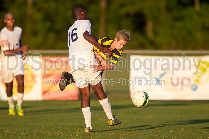 Mt Tabor Spartans vs RJR Demons Men's Varsity Soccer<br /> Forsyth Cup Soccer Tournament Consolation Match<br /> Saturday, August 24, 2013 at West Forsyth High School<br /> Clemmons, North Carolina<br /> (file 192628_BV0H4208_1D4)