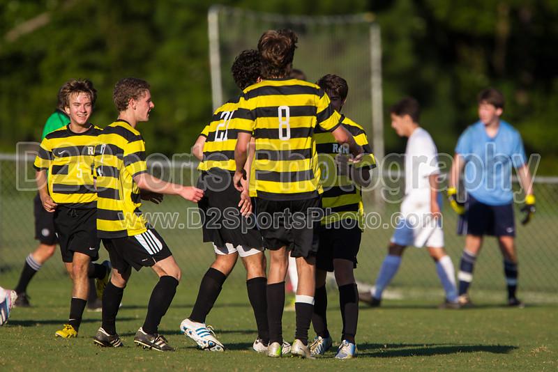 Mt Tabor Spartans vs RJR Demons Men's Varsity Soccer<br /> Forsyth Cup Soccer Tournament Consolation Match<br /> Saturday, August 24, 2013 at West Forsyth High School<br /> Clemmons, North Carolina<br /> (file 183452_BV0H4000_1D4)