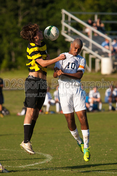 Mt Tabor Spartans vs RJR Demons Men's Varsity Soccer<br /> Forsyth Cup Soccer Tournament Consolation Match<br /> Saturday, August 24, 2013 at West Forsyth High School<br /> Clemmons, North Carolina<br /> (file 182228_803Q4473_1D3)