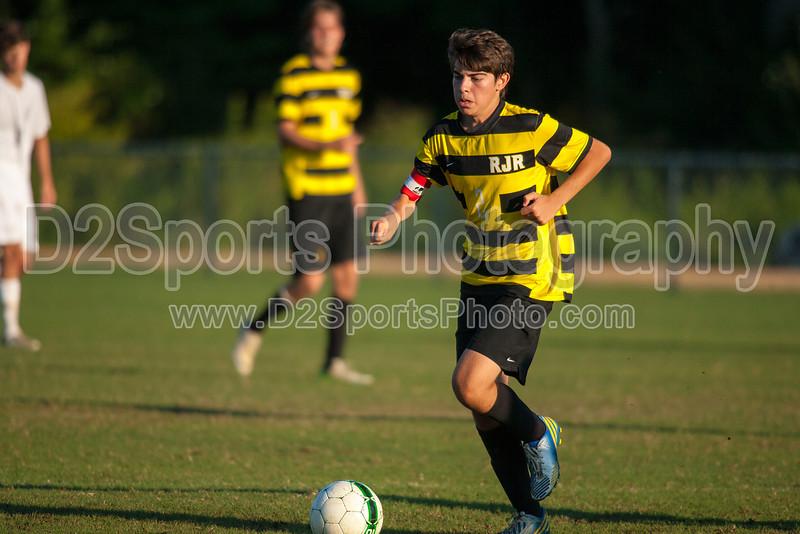 Mt Tabor Spartans vs RJR Demons Men's Varsity Soccer<br /> Forsyth Cup Soccer Tournament Consolation Match<br /> Saturday, August 24, 2013 at West Forsyth High School<br /> Clemmons, North Carolina<br /> (file 185535_QE6Q1083_1D2N)
