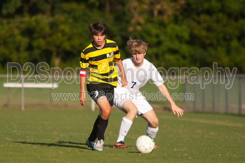 Mt Tabor Spartans vs RJR Demons Men's Varsity Soccer<br /> Forsyth Cup Soccer Tournament Consolation Match<br /> Saturday, August 24, 2013 at West Forsyth High School<br /> Clemmons, North Carolina<br /> (file 181847_803Q4466_1D3)